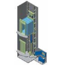 Kleemann hidraulinis liftas su mašinų patalpa