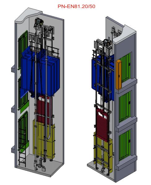 Lift Service keleiviniai liftai be mašinų patalpos MRL-LS