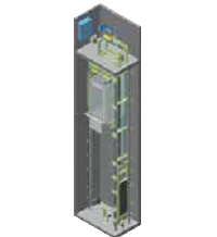 Kleemann liftas su mašinų patalpa